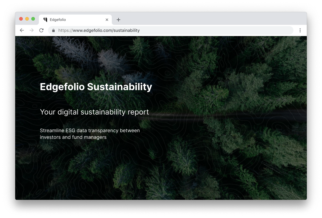 Edgefolio Sustainability
