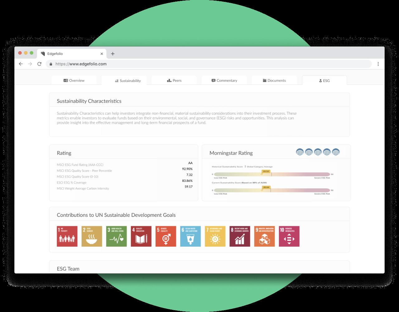 Showcase your fund´s sustainability